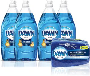 Dawn Ultra Dishwashing Liquid Dish Soap + Non-Scratch Sponge