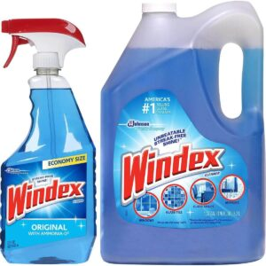 Windex Ammonia-Free Glass and Window Cleaner Spray Bottle