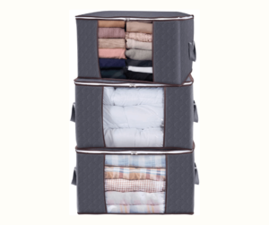 Lifewit Large Capacity Clothes Storage Bag Organizer with Reinforced Handle