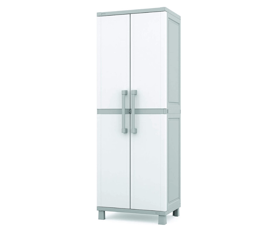 Keter Storage Cabinet with Doors and Shelves