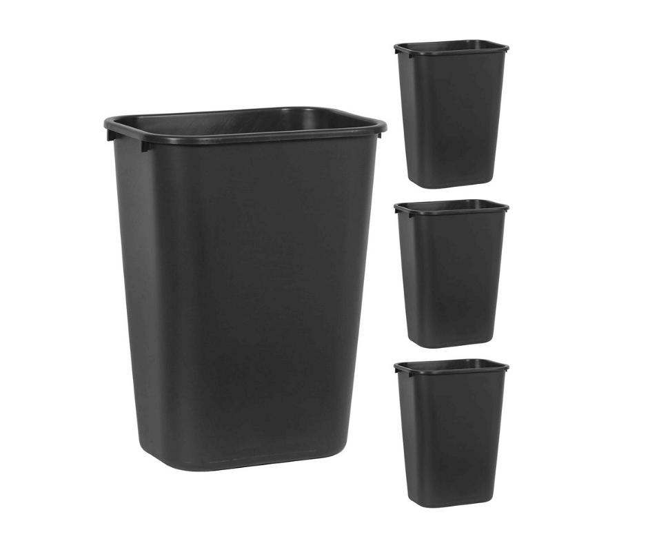 Rubbermaid Commercial Products Plastic Resin Wastebasket Trash Can